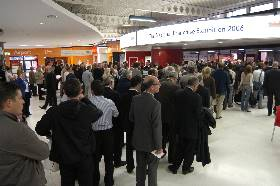 Queue at the start of a busy show day