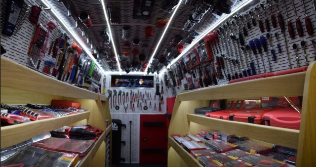V4Vans Showroom style fitted van
